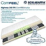 Schlaraffia Highway 240 TFK ComFEEL 7-Zonen Taschenfederkern-Matratze H3 (90 x...