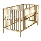 IKEA verstellbares Babybett SNIGLAR Bettchen in 60x120cm Gitterbett aus massiver...